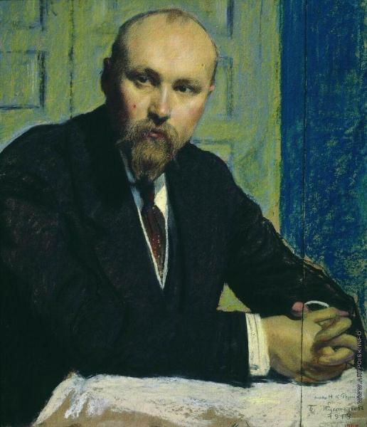 Кустодиев Б. М. Портрет Н.К.Рериха
