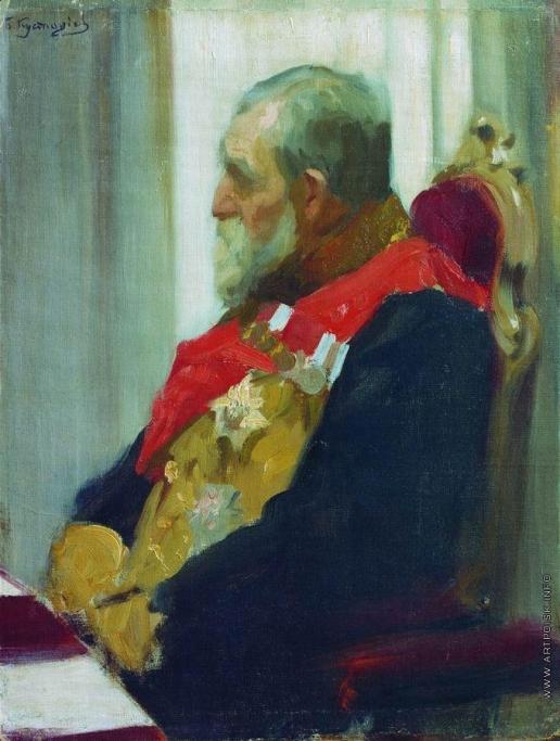 Кустодиев Б. М. Портрет П.И.Саломона. 1902-