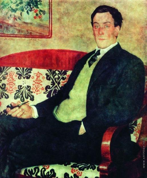 Кустодиев Б. М. Портрет Петра Леонидовича Капицы
