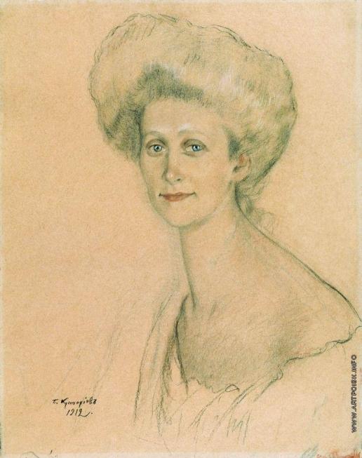 Кустодиев Б. М. Портрет Т.Ф. Давыдовой