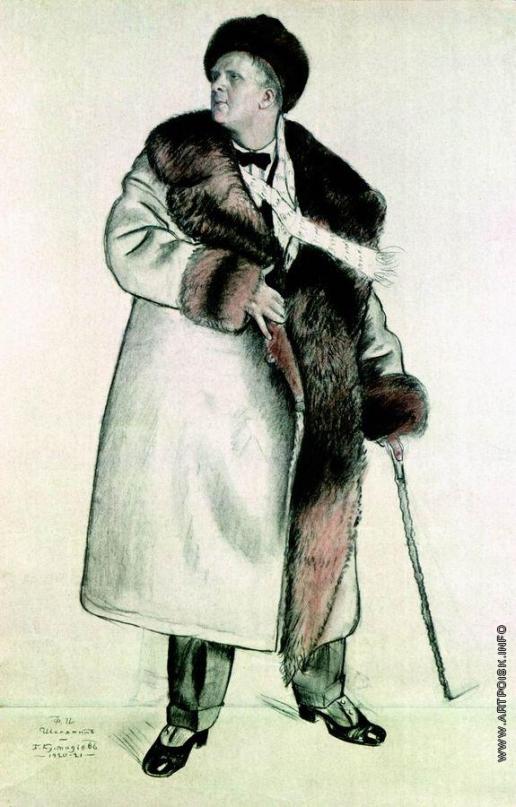 Кустодиев Б. М. Портрет Ф.И. Шаляпина