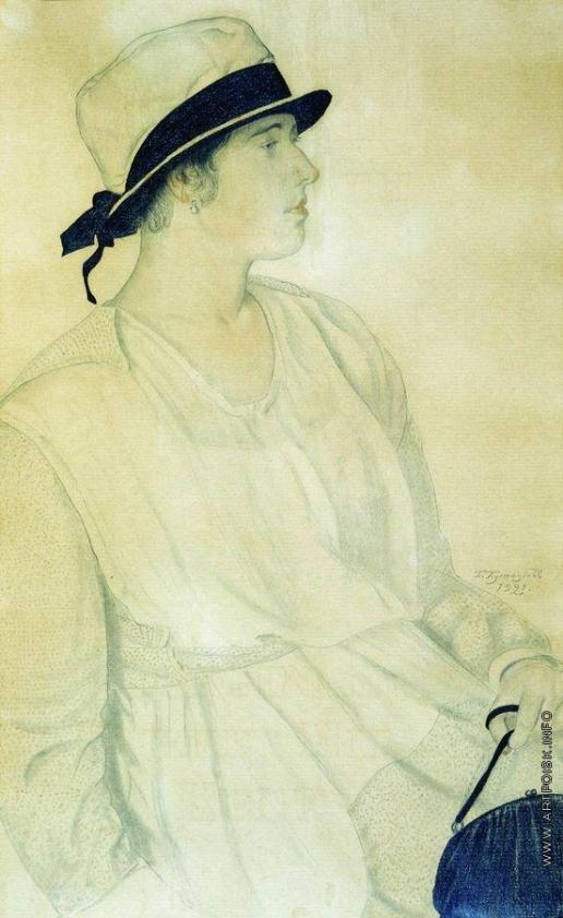 Кустодиев Б. М. Портрет Шишановской