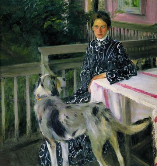 Кустодиев Б. М. Портрет Ю.Е.Кустодиевой