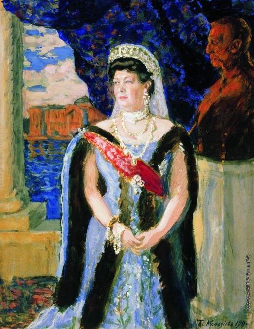 Кустодиев Б. М. Портрет великой княгини Марии Павловны