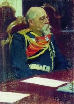 Кустодиев Б. М. Портрет генерал-губернатора Финляндии Н.И.Бобрикова. 1902-