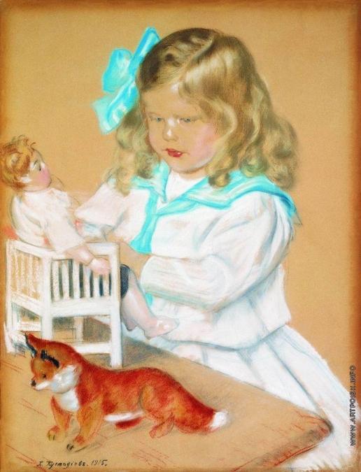 Кустодиев Б. М. Портрет девочки