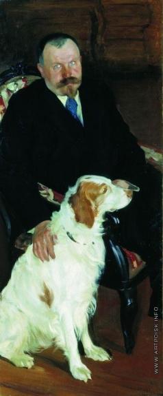 Кустодиев Б. М. Портрет доктора С.Я.Любимова с собакой
