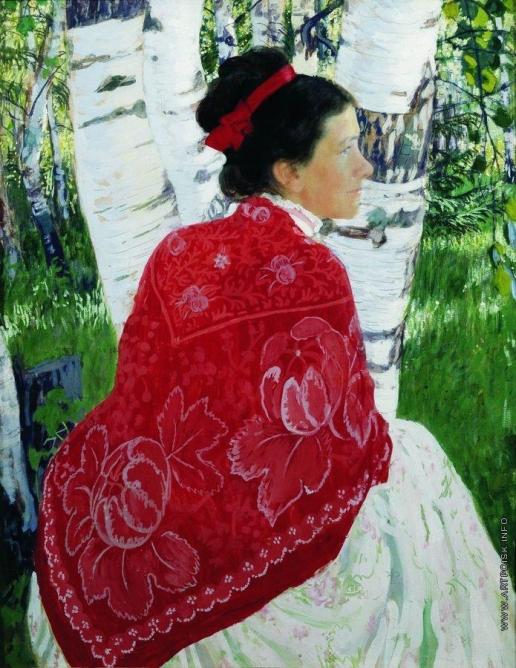 Кустодиев Б. М. Портрет жены художника