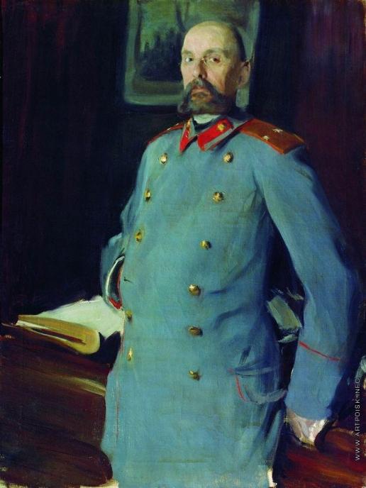 Кустодиев Б. М. Портрет коменданта Мариинского дворца генерал-майора Павла Аркадьевича Шевелева (1846 - ?)
