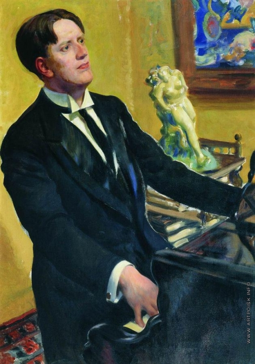 Кустодиев Б. М. Портрет композитора Д.В.Морозова