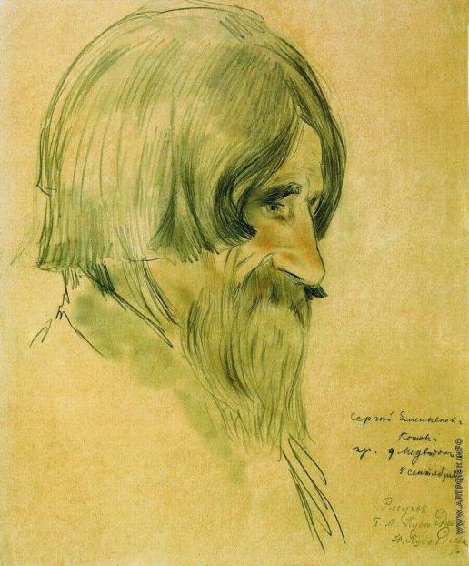 Кустодиев Б. М. Портрет крестьянина Котова