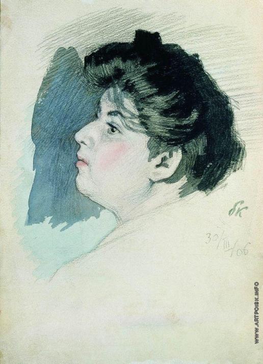 Кустодиев Б. М. Портрет неизвестной