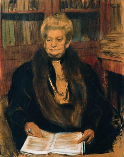 Кустодиев Б. М. Портрет писательницы Александры Васильевны Шварц