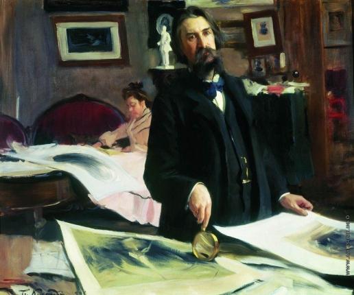 Кустодиев Б. М. Портрет профессора гравирования В.В.Матэ
