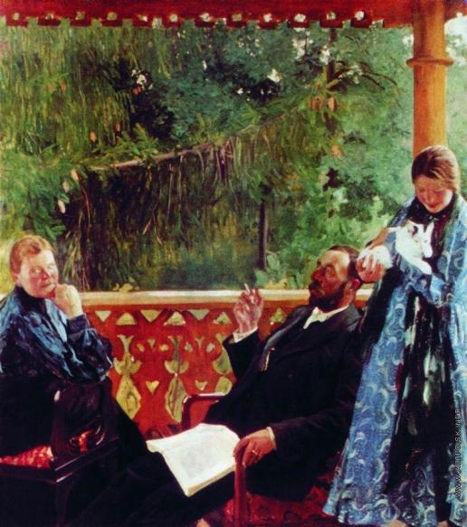 Кустодиев Б. М. Портрет семьи Поленовых (Семейный портрет)