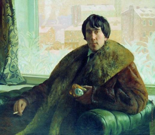 Кустодиев Б. М. Портрет скульптора и архитектора И.С.Золотаревского