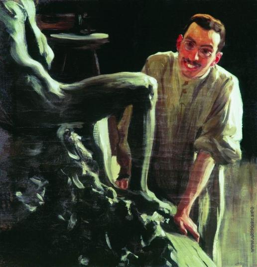 Кустодиев Б. М. Портрет скульптора и живописца Д.С.Стеллецкого