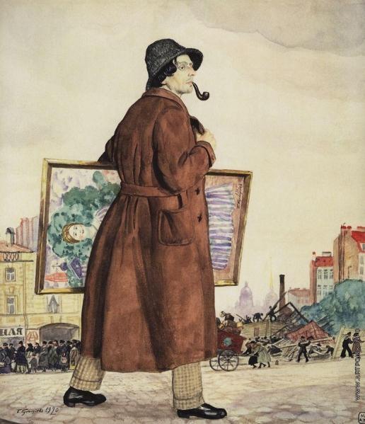 Кустодиев Б. М. Портрет художника И.И.Бродского