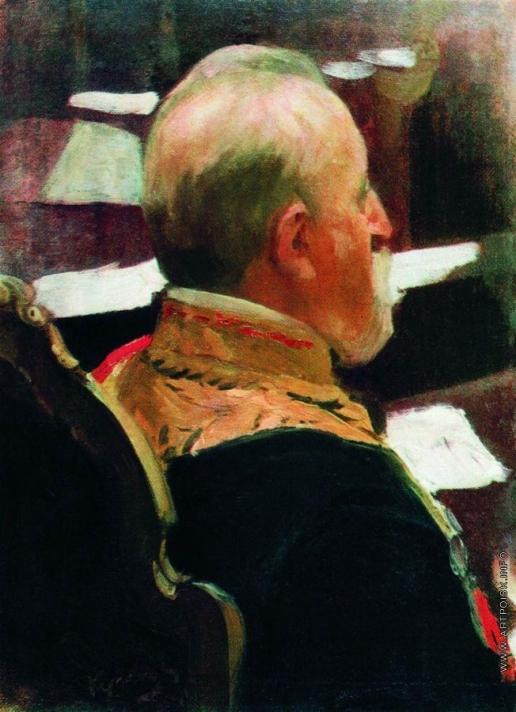 Кустодиев Б. М. Статс-секретарь генерал Михаил Николаевич Галкин-Враский. 1902-