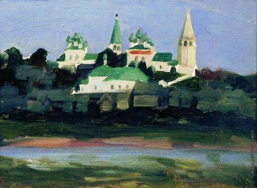 Кустодиев Б. М. Сумерки в Судиславле