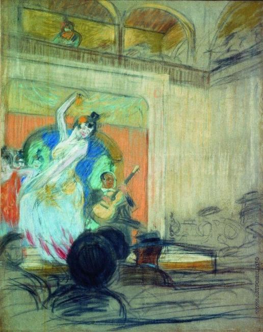 Кустодиев Б. М. Танцовщица в кабаре