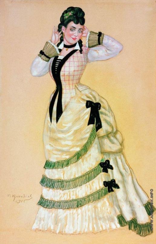 Кустодиев Б. М. Театральный портрет. Купавина