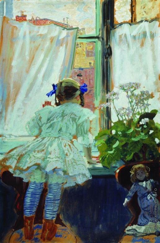 Кустодиев Б. М. У окна. Портрет И.Б.Кустодиевой