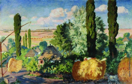 Кустодиев Б. М. Украинский пейзаж