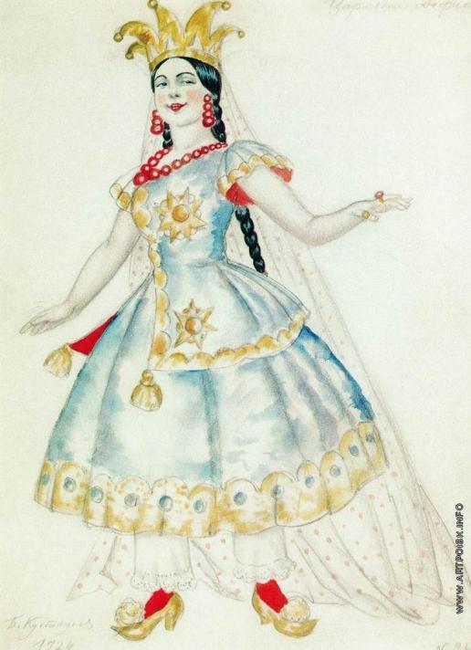 Кустодиев Б. М. Царевна Анфиса