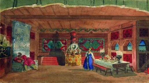 Кустодиев Б. М. Эскиз декорации к спектаклю «Царская невеста»