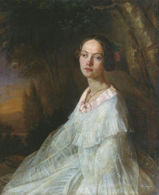 Лавров Н. А. Портрет Ю.В. Жадовской