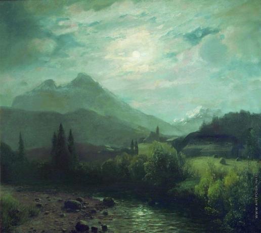 Лагорио Л. Ф. Альпийский пейзаж