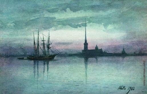 Лагорио Л. Ф. Белая ночь Петербурга