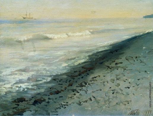 Лагорио Л. Ф. Берег моря близ Алушты