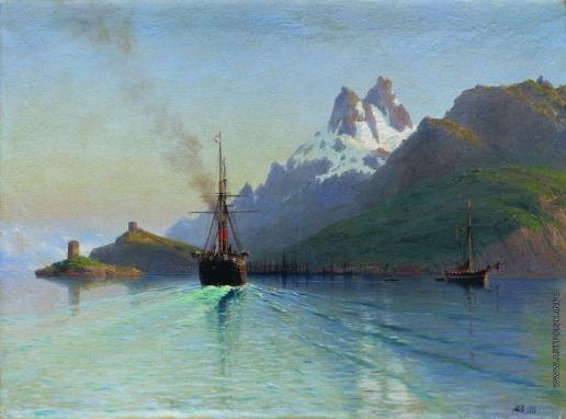Лагорио Л. Ф. Боде на Лофотенских островах в Норвегии