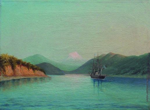 Лагорио Л. Ф. В горах Кавказа. Корабль в бухте