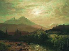 Лагорио Л. Ф. В горах. Альпийский пейзаж