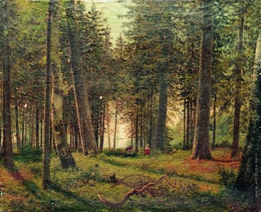 Лагорио Л. Ф. В еловом лесу