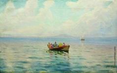 Лагорио Л. Ф. Вид на море с лодкой