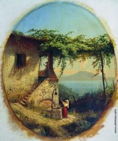 Лагорио Л. Ф. Вид с острова Искья на Везувий