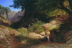 Лагорио Л. Ф. Горный вид в Италии