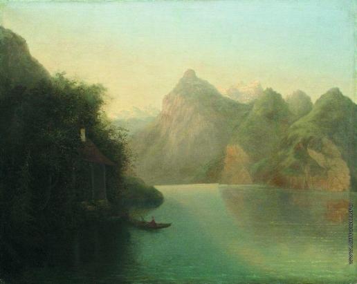Лагорио Л. Ф. Горный пейзаж с озером