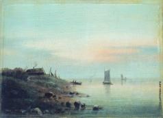 Лагорио Л. Ф. Закат (Нормандский берег)