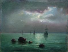 Лагорио Л. Ф. Закат над заливом
