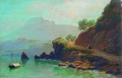 Лагорио Л. Ф. Залив. По горной дороге вдоль берега моря