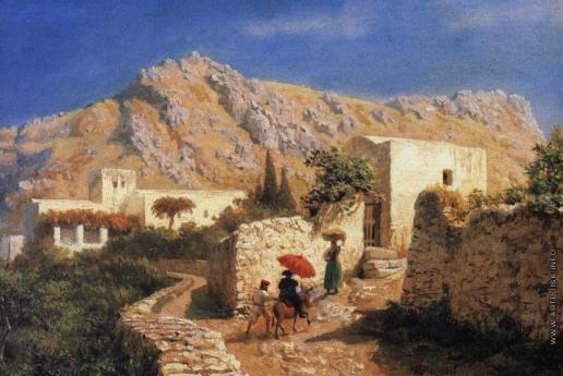 Лагорио Л. Ф. Итальянский горный пейзаж