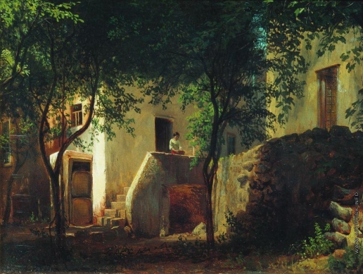 Лагорио Л. Ф. Итальянский дворик