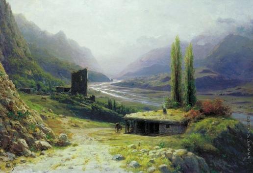 Лагорио Л. Ф. Кавказское ущелье
