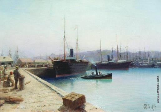 Лагорио Л. Ф. Корабельная пристань