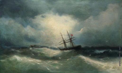 Лагорио Л. Ф. Корабль в море